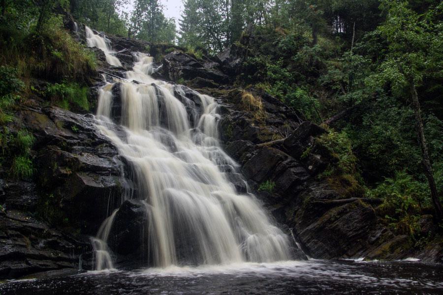 Водопад Юканкоски / Белые мосты